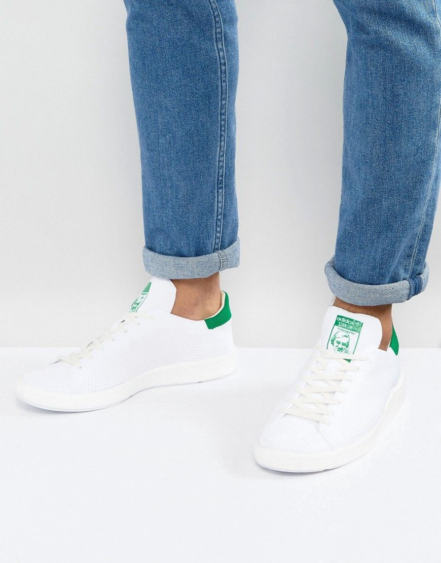 9c4f8a2f2ac81d ADIDAS ORIGINALS STAN SMITH BOOST PRIMEKNIT SNEAKERS IN WHITE BB0013 - WHITE.   adidasoriginals  shoes