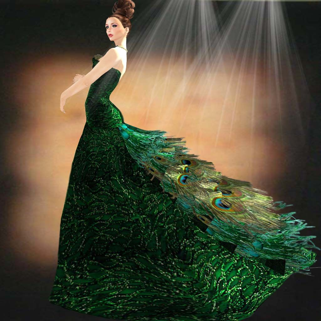 437998898eb1 Oh my goodness make it so. Elan peacock gown