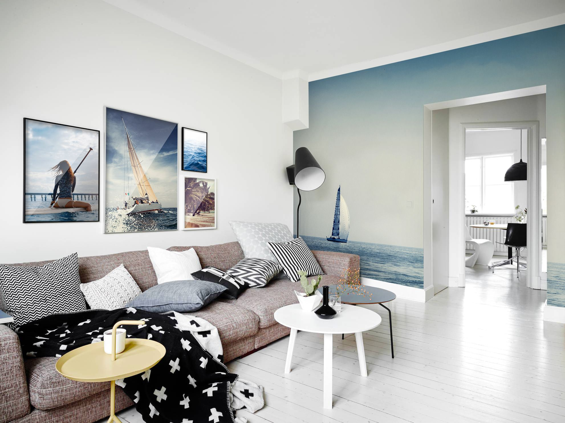 Oceanwaves • Scandinavian - Living room - Landscapes - Wall Murals ...