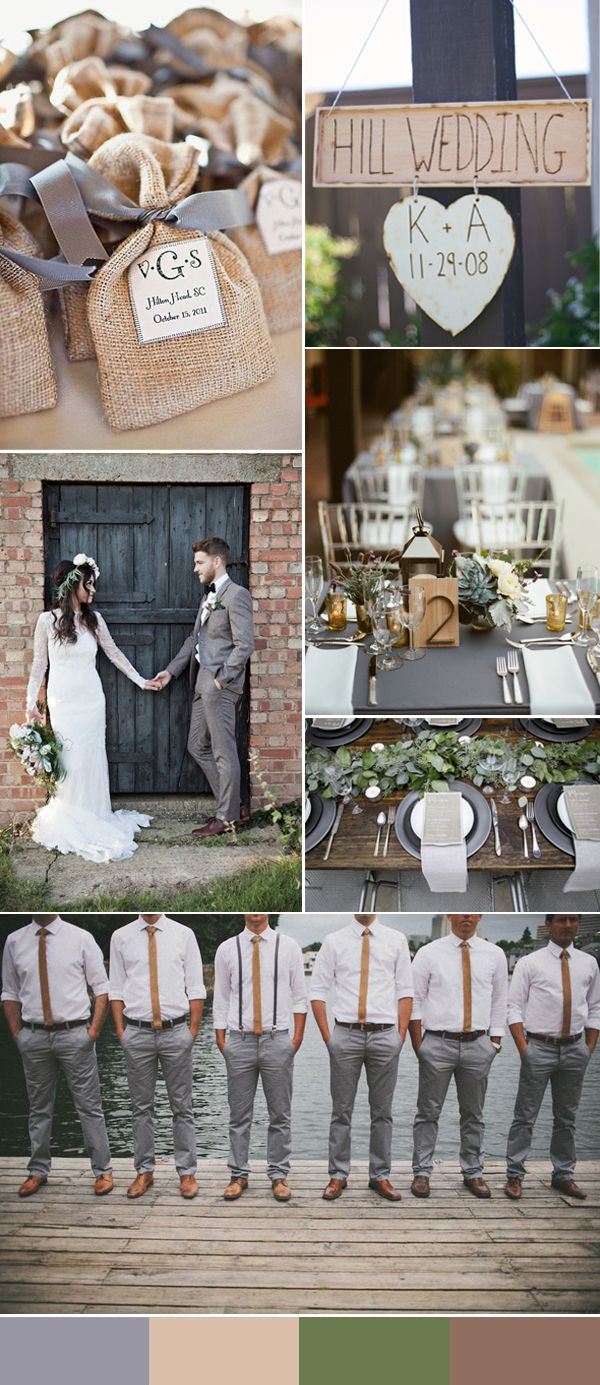 rustic-grey-and-light-brown-wedding-ideas.jpg 600×1,385 pixeles