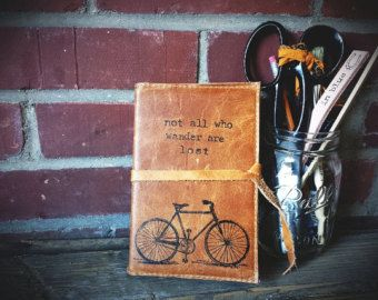 Leather Journal Leather Sketchbook Custom Leather by inblue