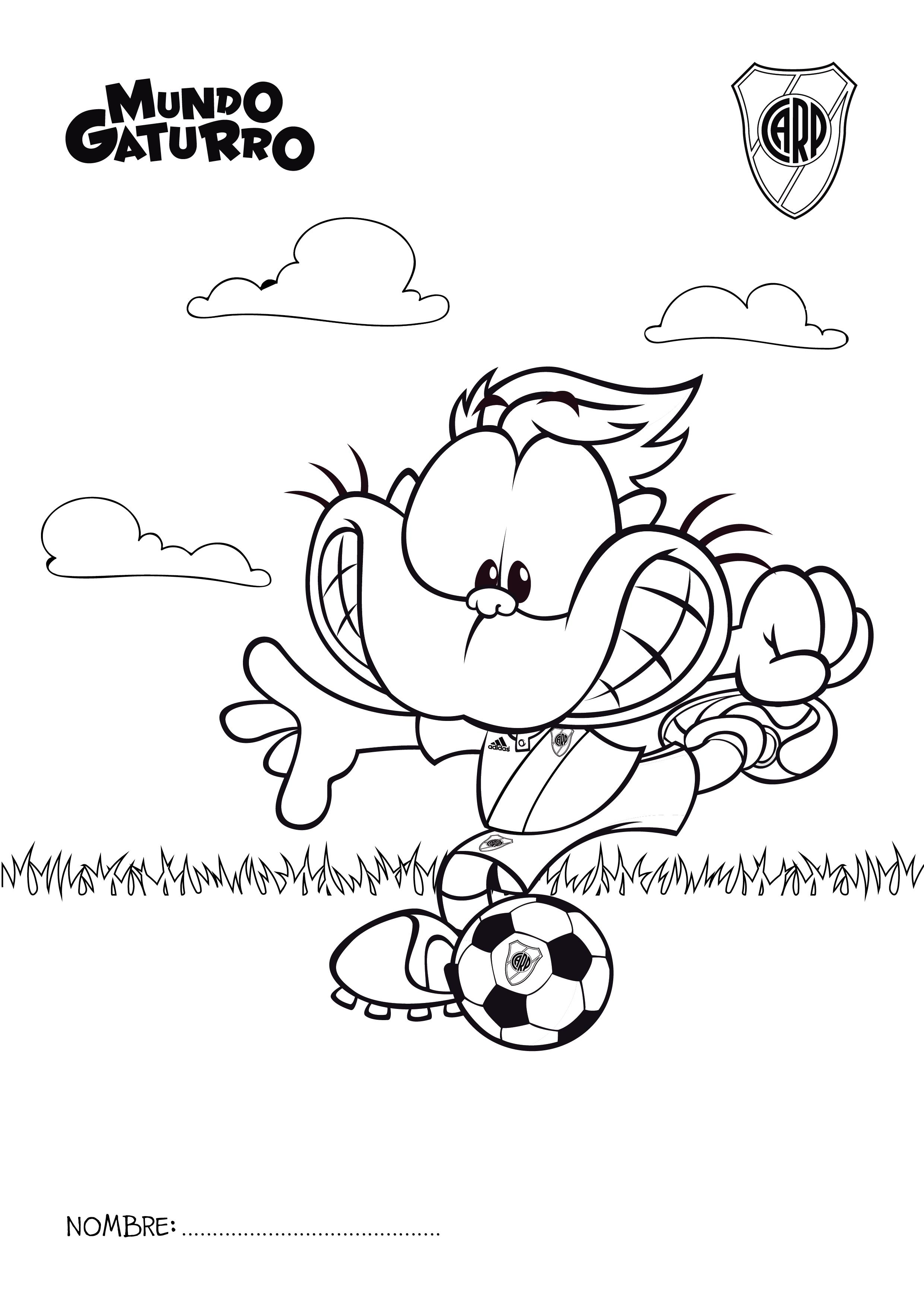 Dibujos De Boca Juniors Para Colorear