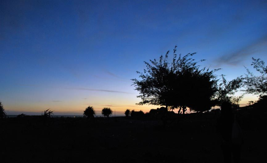 landscape  amazing sunset parangtritis jogjakarta Indonesia