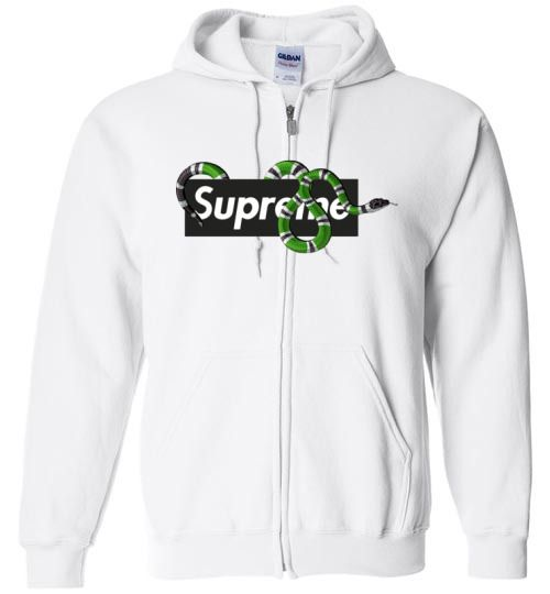 38757507664 nice SUPREME X GUCCI SNAKE EDITION 2018 Unisex zip hoodie