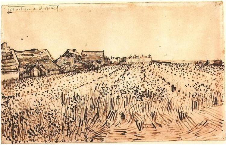 Vincent Van Gogh Landscape Drawings Art Van Gogh