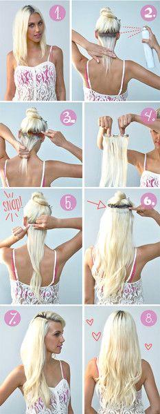 42 Besten Clip In Extensions Bilder Auf Pinterest Short Hair Up