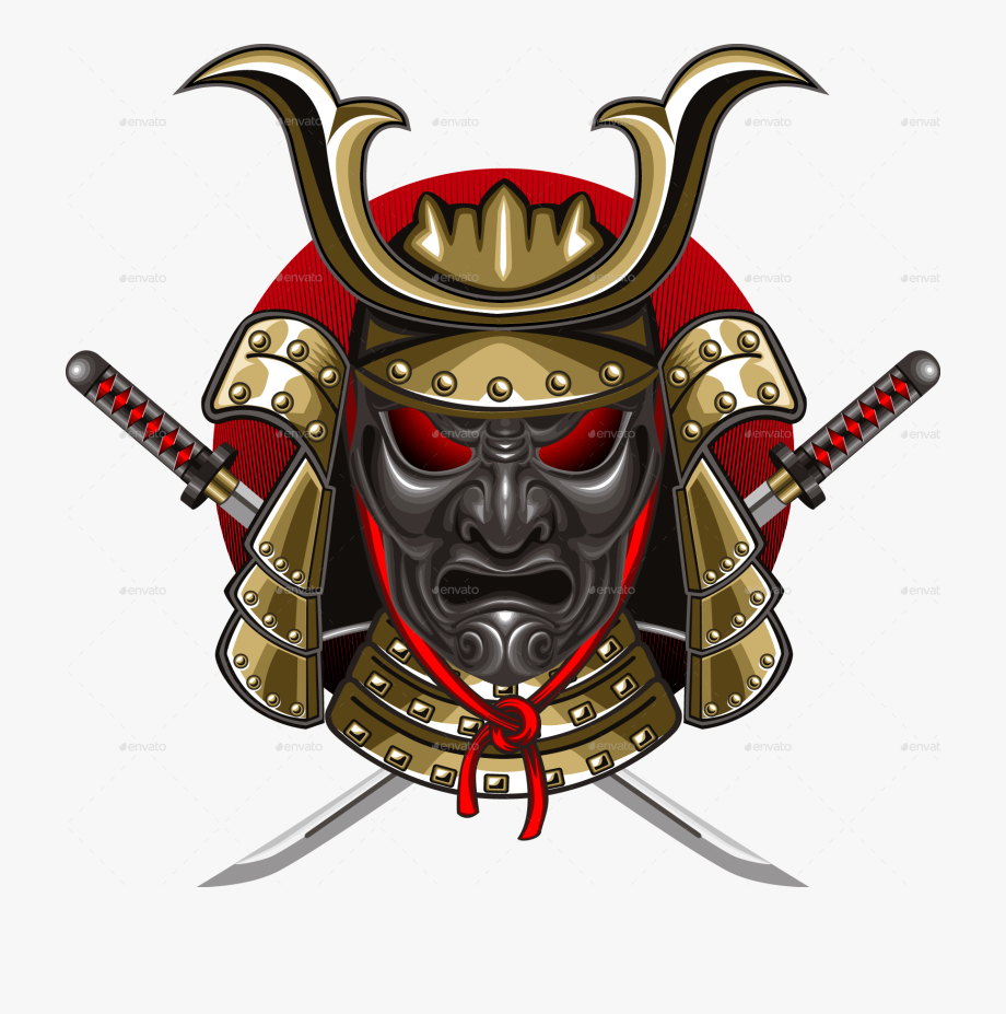 Png Images Free Download Samurai Mask 2342030 Free Cliparts Katana Car Bumper Stickers Car Bumper