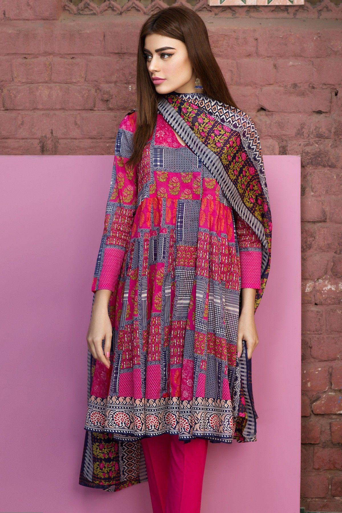Khaadi – A17204-B-PINK - Lawn 2017 Vol 1 - Unstitched   nice dress ...