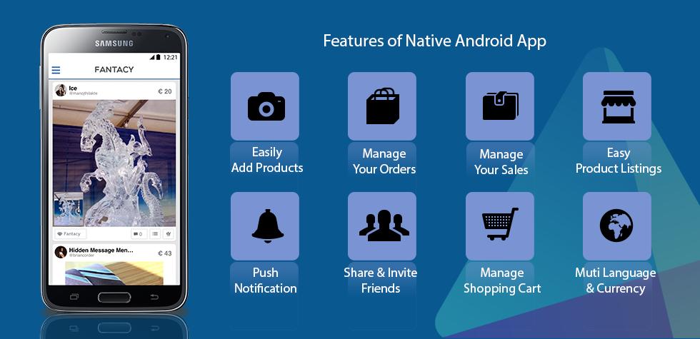 Multi Vendor Script Fantacy's Android App Features