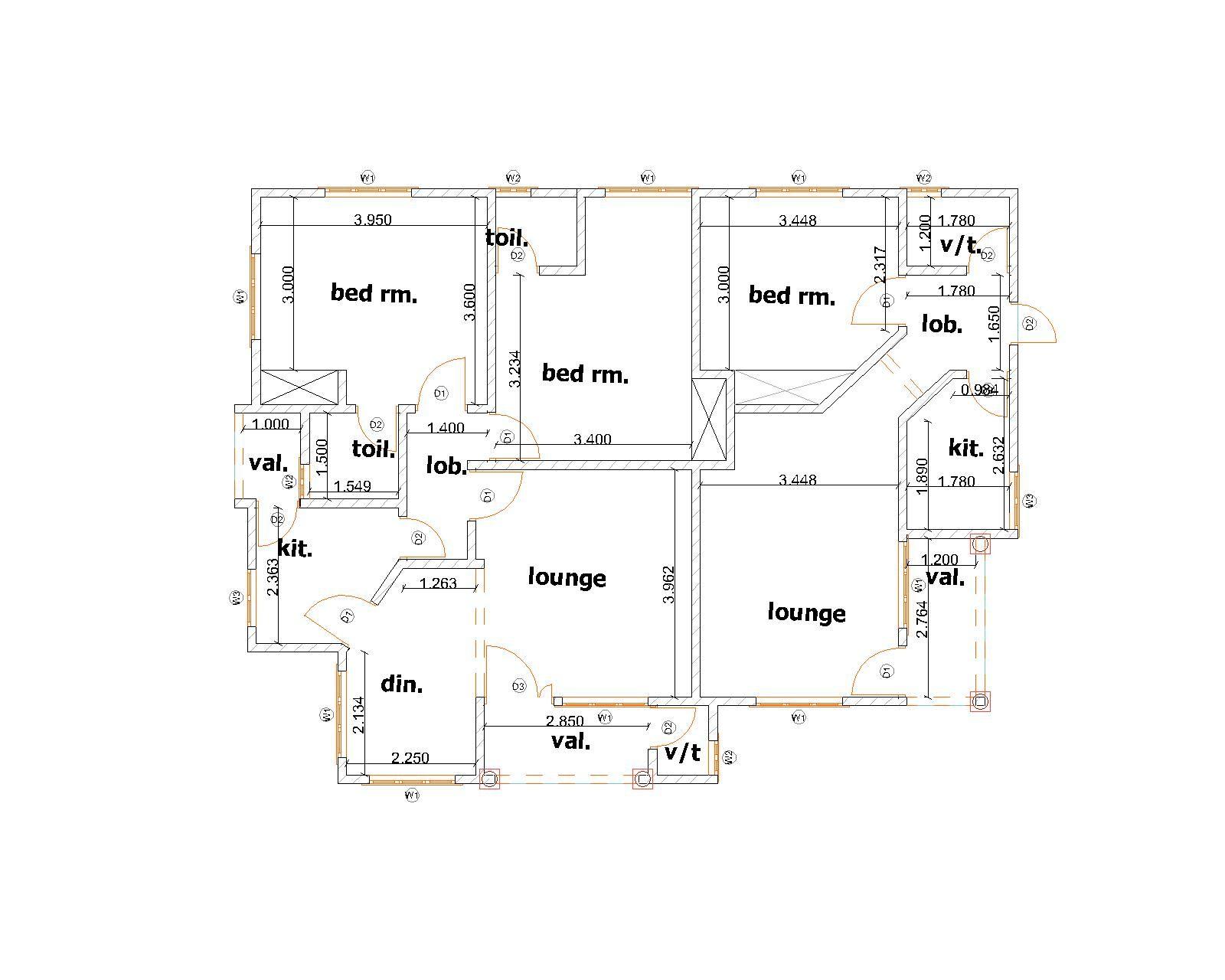4 Bedroom and 4 Bedroom Apartment  Plan Market  4 bedroom