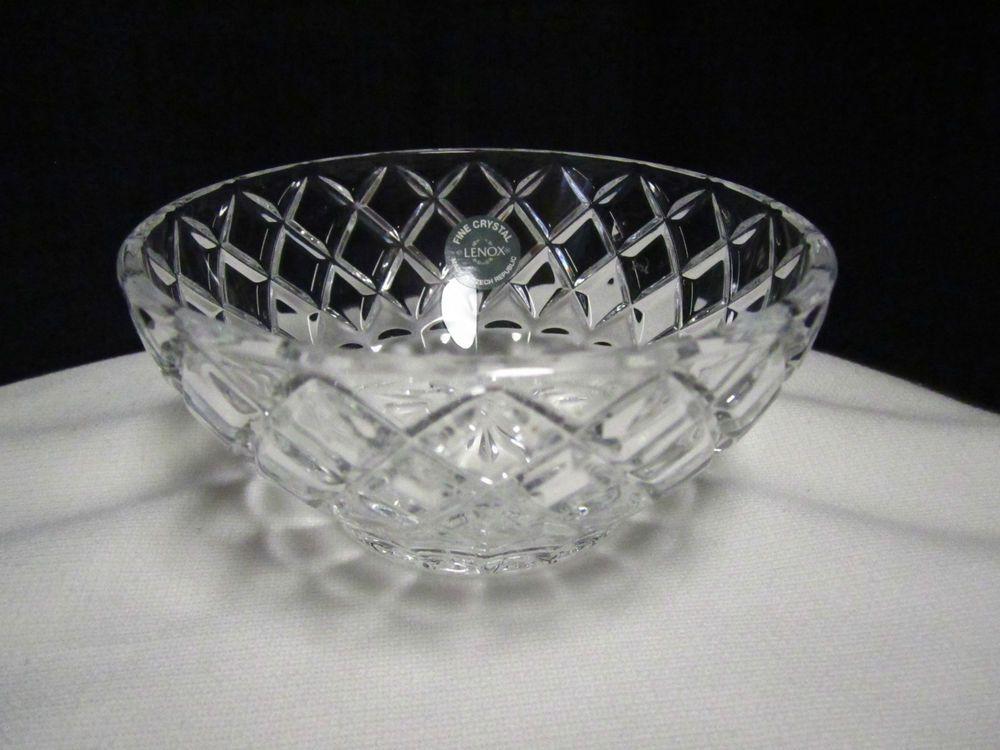 Lenox Crystal Bowl 5 Diamond Star Crystal Candy Bowl Czec Republic