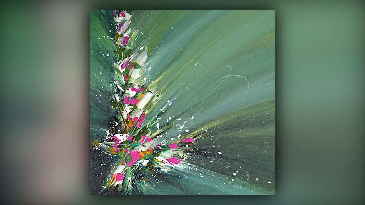 Abstract painting satisfying acrylics palette knife