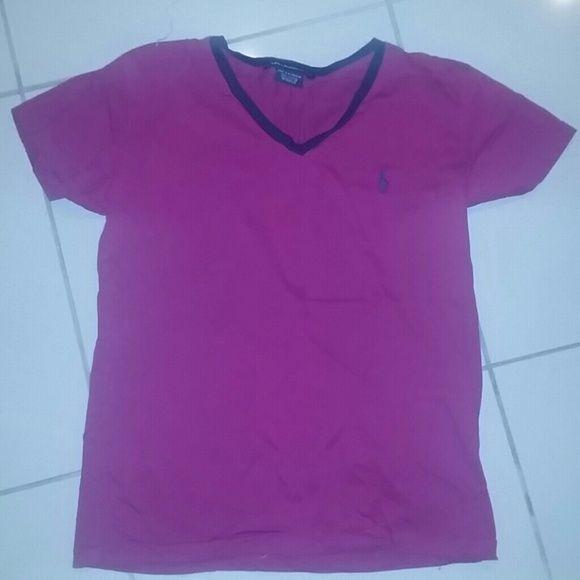 Ralph Lauren sport tee shirt worn once Fuschia Ralph Lauren Sport tee shirt Ralph Lauren Tops Tees - Short Sleeve