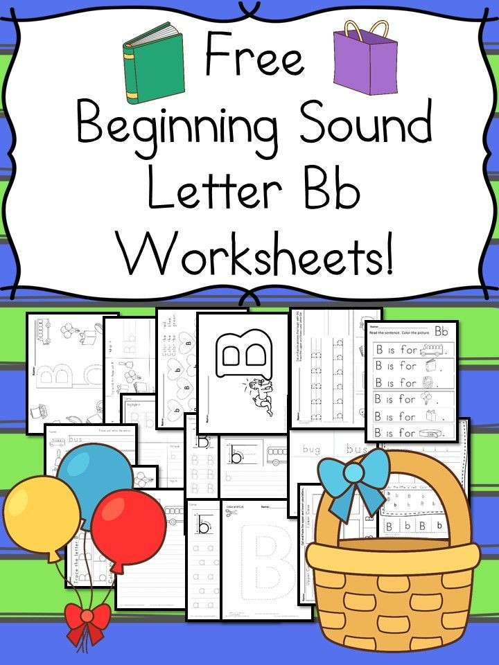 free beginning sounds letter b worksheets worksheets kindergarten and students. Black Bedroom Furniture Sets. Home Design Ideas
