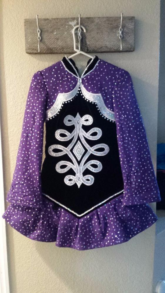 Striking Purple KDSF Irish Dance Dress Solo Costume For Sale