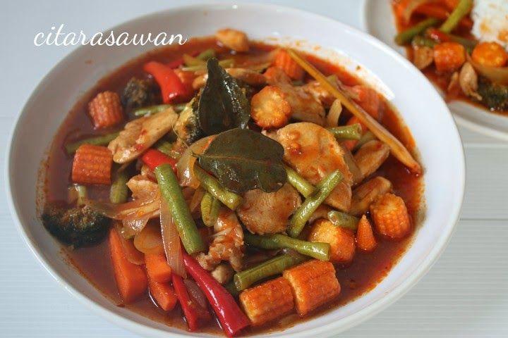 Ayam Paprik Ala Thai Recipes Asian Cooking Indian Food Recipes Asian Dishes