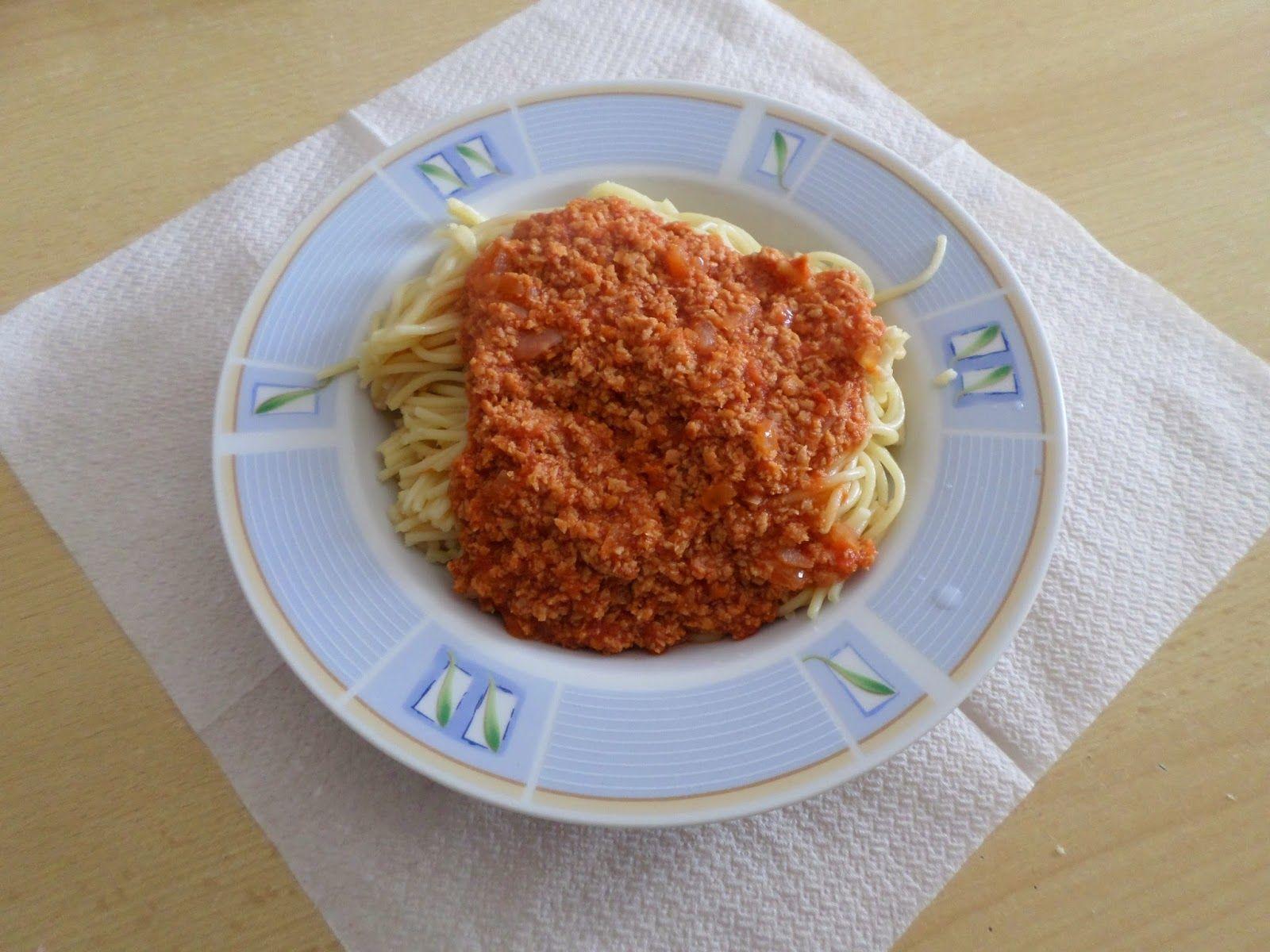 Diário de uma afro-hair: Esparguete a bolonhesa de soja