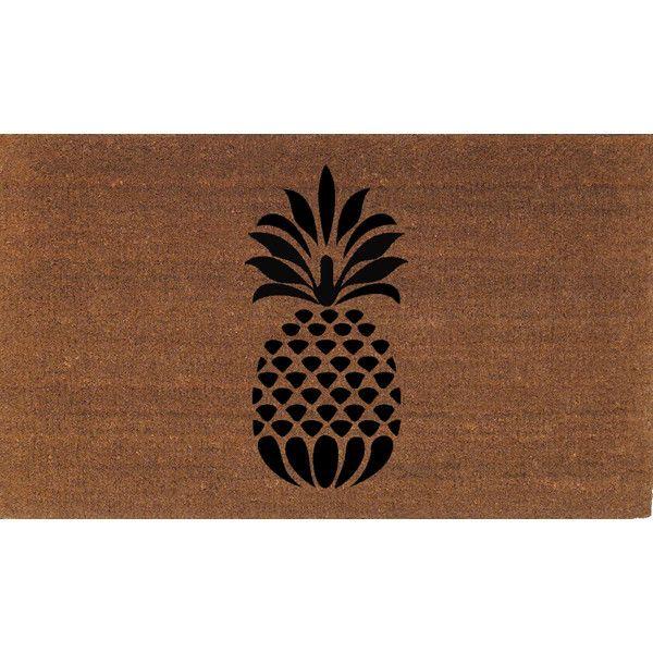 pineapple pine apple door mat coir doormat rug 2 x 2 11 24 inches x