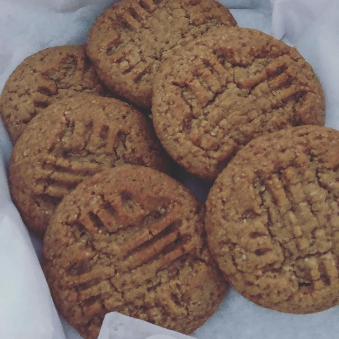 Keto Peanut butter cookies. .  These cookies are super soft and dense. Like firmer version pop them...