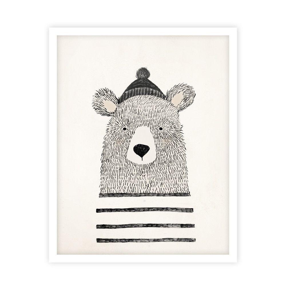 winter bear print medvedev illustration art art. Black Bedroom Furniture Sets. Home Design Ideas