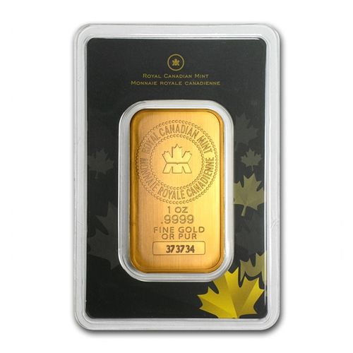 Royal Canadian Mint Rcm 1 Oz 24 Karat Gold Bar Gold Bar Gold Bars For Sale Buy Gold And Silver