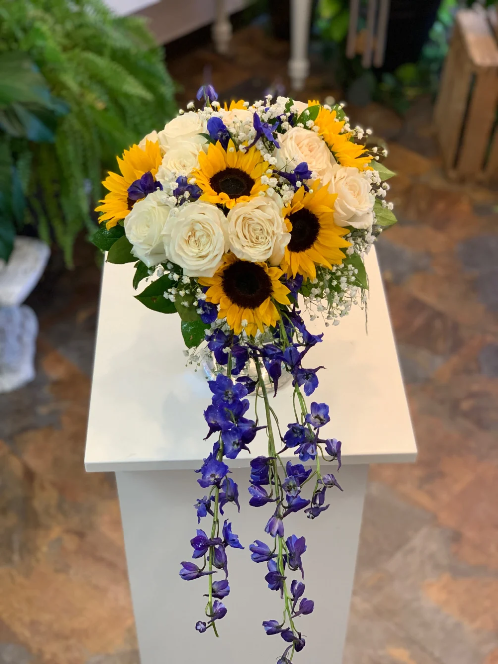 purple wedding and sunflowers Google Search Sunflower