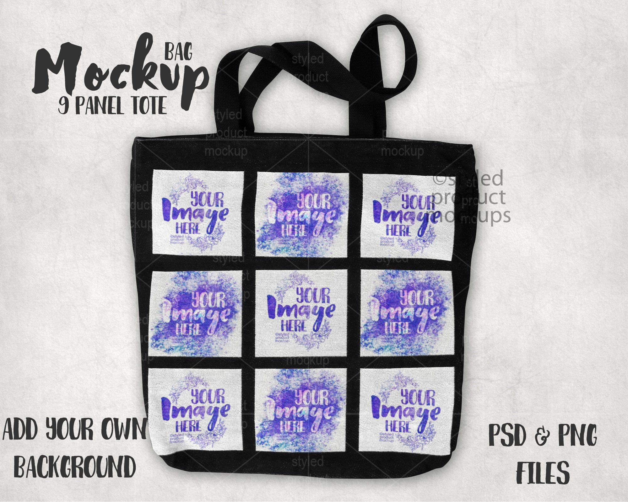 Download Dye Sublimation 9 Panel Tote Bag Mockup Add Your Own Image Etsy Bag Mockup Tote Tote Bag