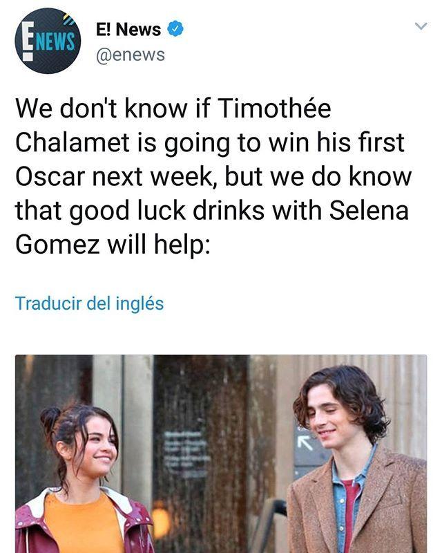 58d680d8ba2d2 Selena Gomez Reunites With Timothée Chalamet Before 2018 Oscars Selena  Gomezreunited with friend co-star andHollywood hottieTimothée Chalameton  Fri…