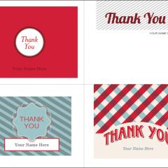 Printable Christmas Thank You Cards  S    Thank You