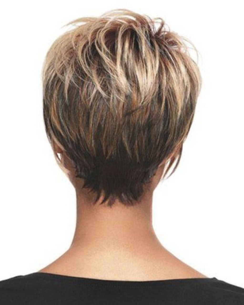 Pixie short haircut for women back view hair pinterest short