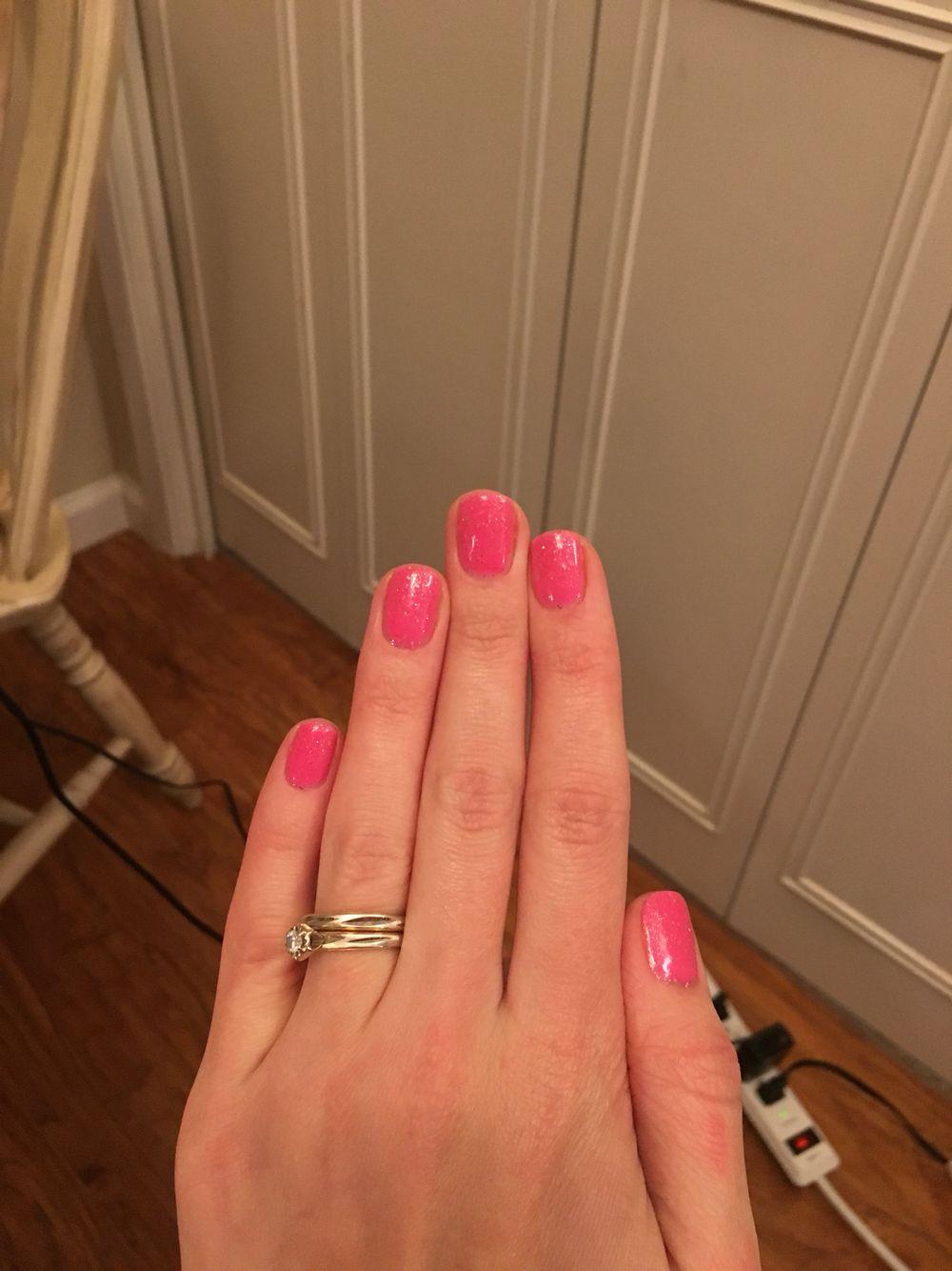 LeChat nails gel polish sweetheart glitter | Gel nail ...