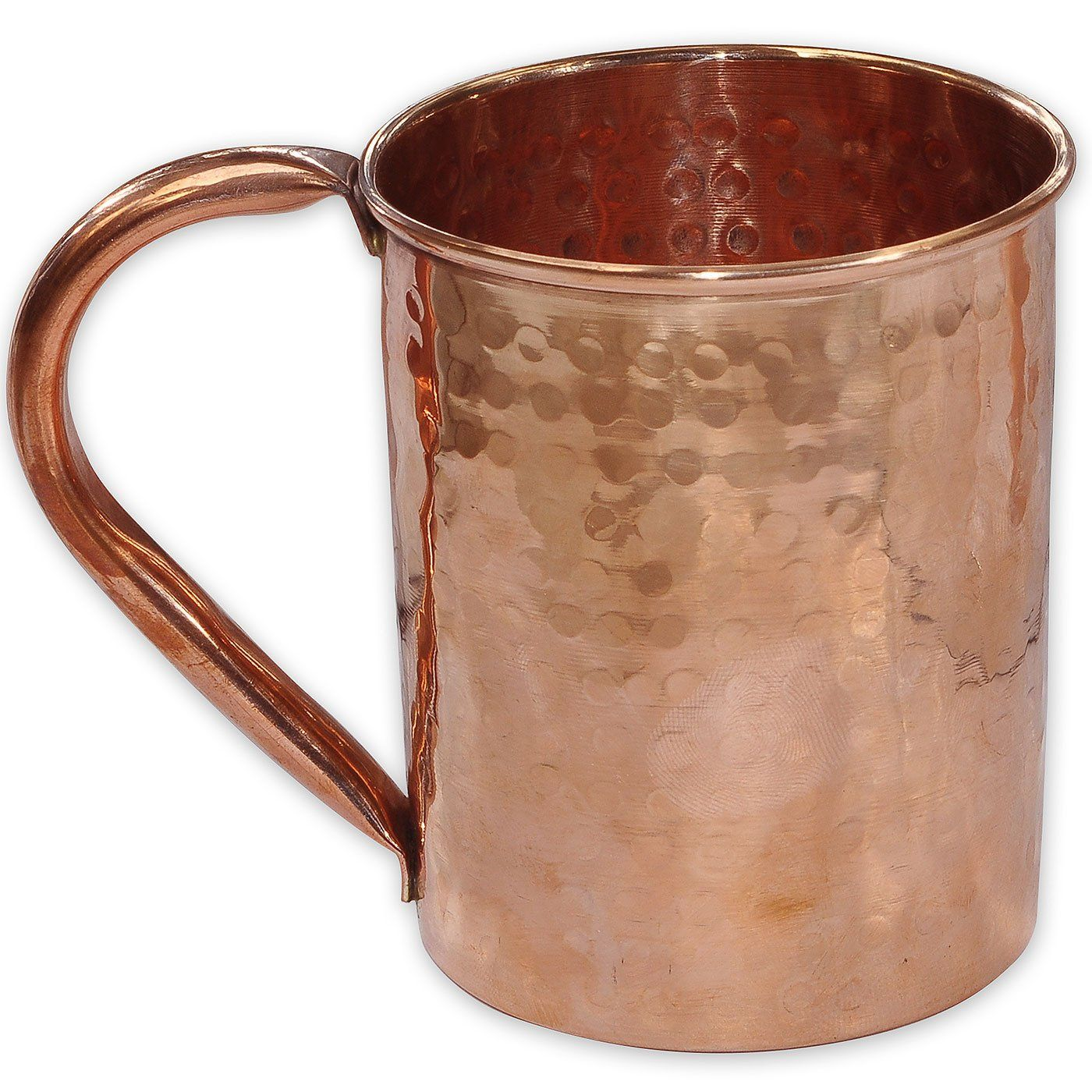 Handmade Copper Moscow Mule Mug Hammered Lacquered Finish Copper