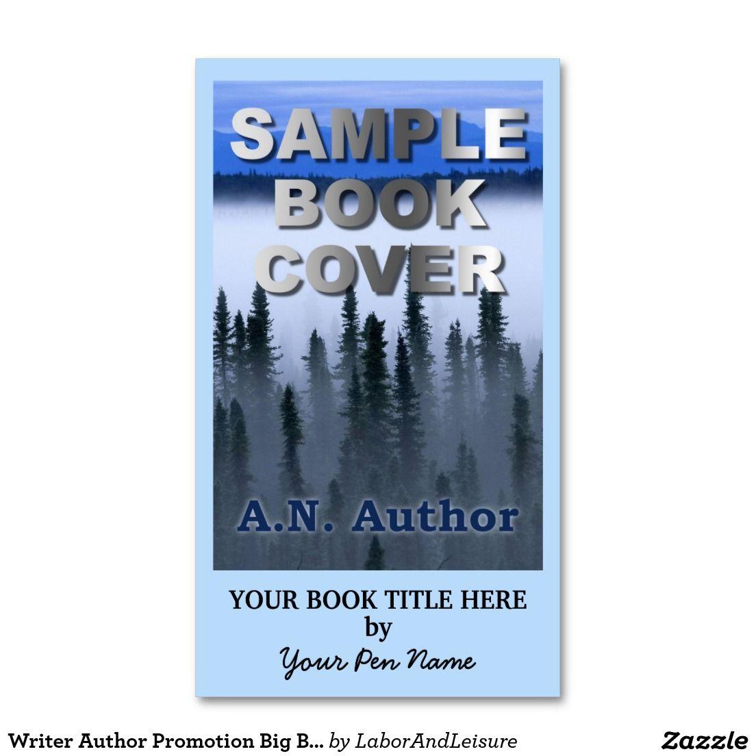 Writer Author Promotion Big Book Cover Business Card | Portada de ...