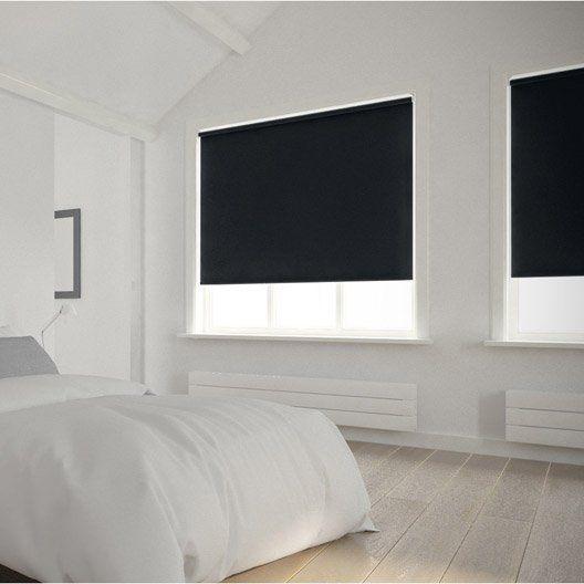 Heytens - store enrouleur gris chine ouvert - jete de lit zen et