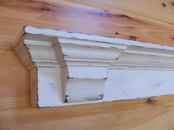 48 In Stock Distressed White Or Solid White Mantel Shelf With Corbels White Mantel Mantel Shelf Distressed White