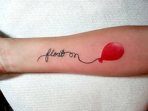 """float on"" (Inked by Rick at The Permanent Marker in Arizona)"