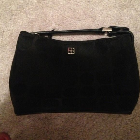Kate Spade Black Dot evening purse Pink lining! Super cute! Great condition! kate spade Bags