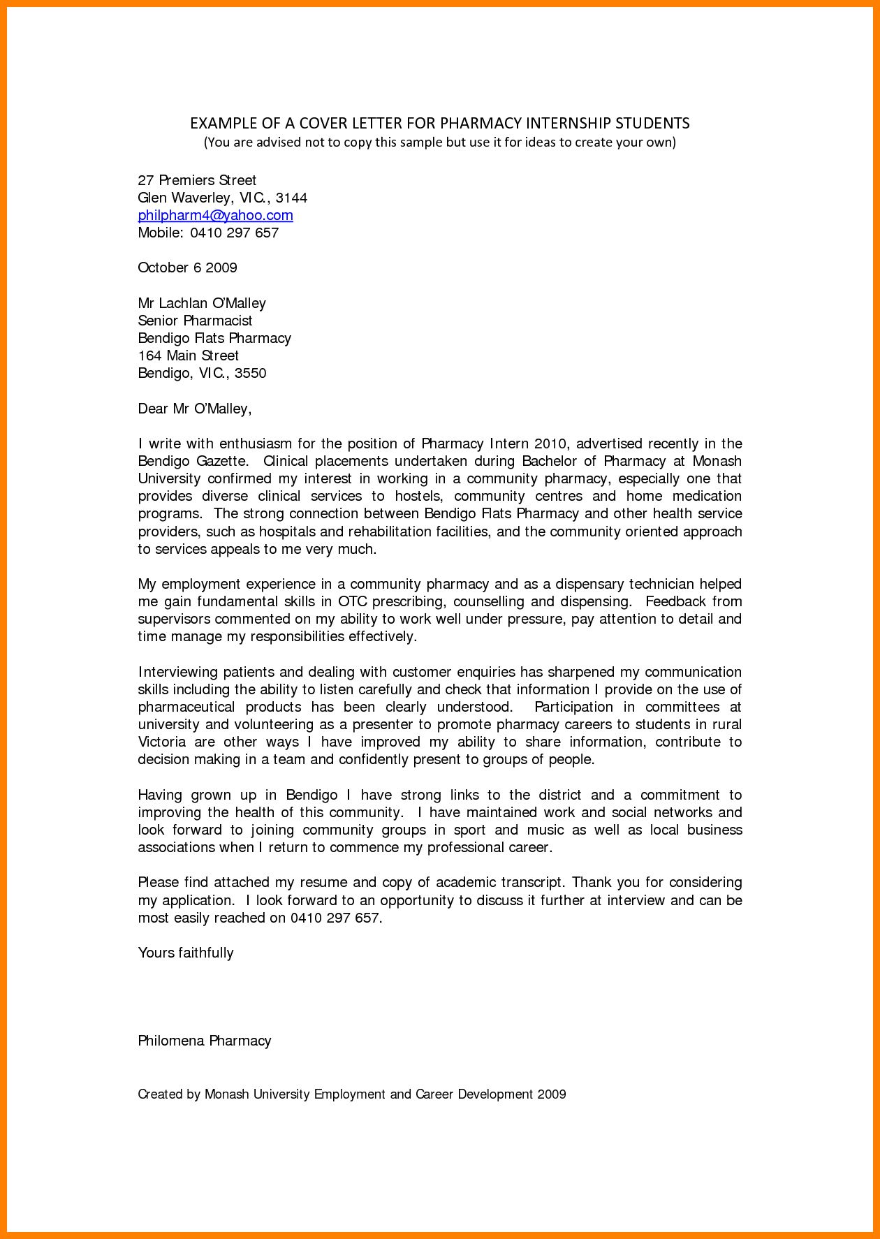 30 Cover Letter For Internship Writing A Cover Letter Cover Letter For Internship Cover Letter