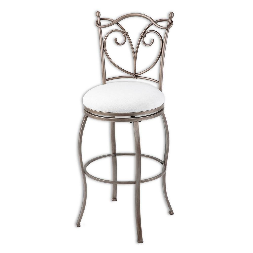 30 in raleigh metal bar stool with wheat upholstered swivel seat