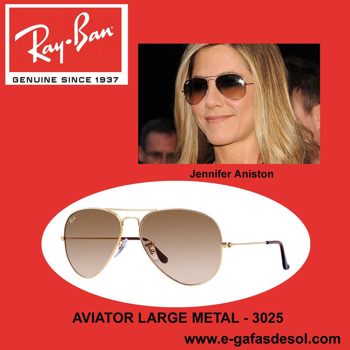 0d16f2446c La super estrella de Hollywood Jennifer Aniston con las icónicas gafas de  sol RAY BAN Aviator 001-51