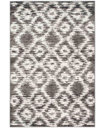 Safavieh Adirondack Charcoal and Ivory 10' x 14' Area Rug & Reviews - Rugs - Macy's #area51partyoutfit