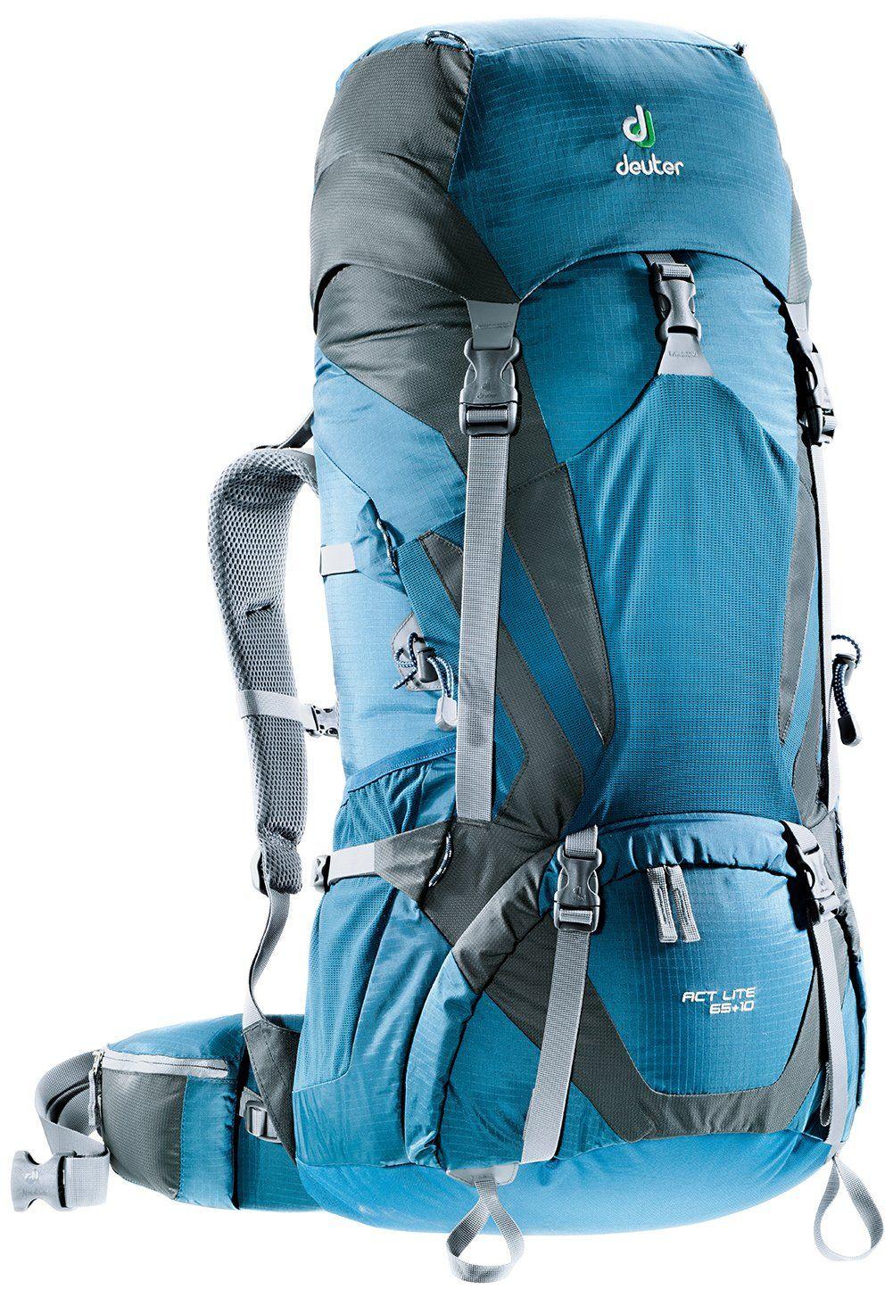 Deuter ACT Lite 65 + 10 - Ultralight Trekking Backpack, Arctic ...