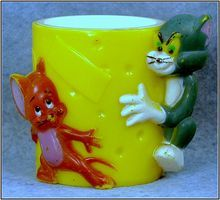 Hard Plastic Tom & Jerry Egg Cup