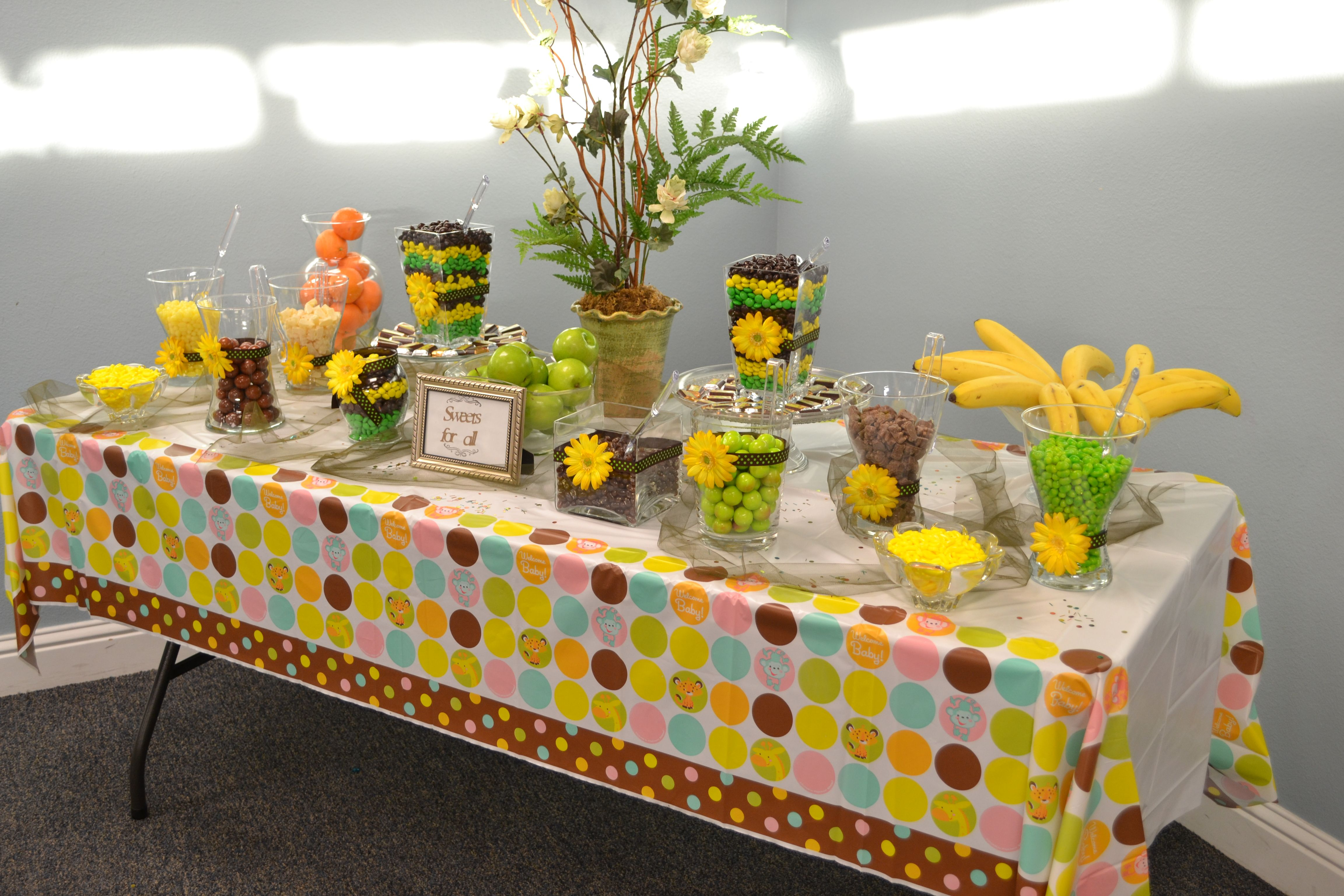 Candy Buffet For My Daughter S Baby Shower Jungle Safari Theme