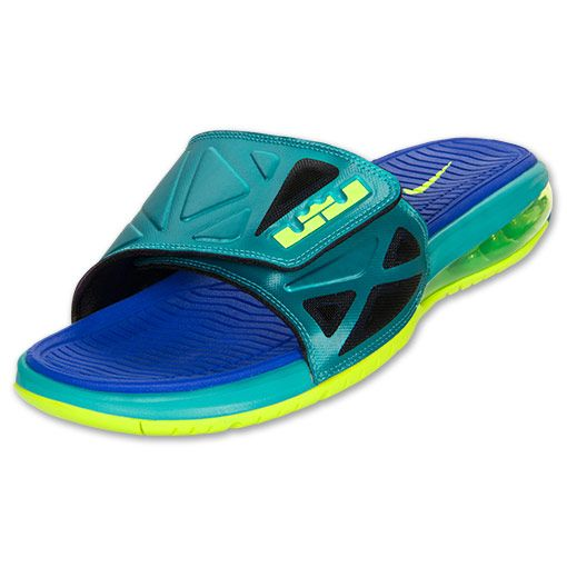 Mens Nike Air LeBron 2 Elite Slide Sandals  FinishLine.com  Sport  Turquoise