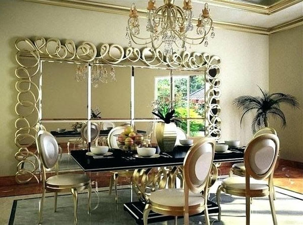 31 Amazing Wall Mirror Design Ideas For Dining Room Decor Pimphomee Dining Room Wall Decor Dining Room Mirror Wall Living Room Mirrors