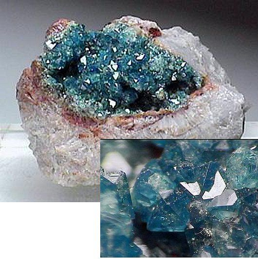 Quartz With An Exposed Vug Lined With Lustrous Bluish Colored