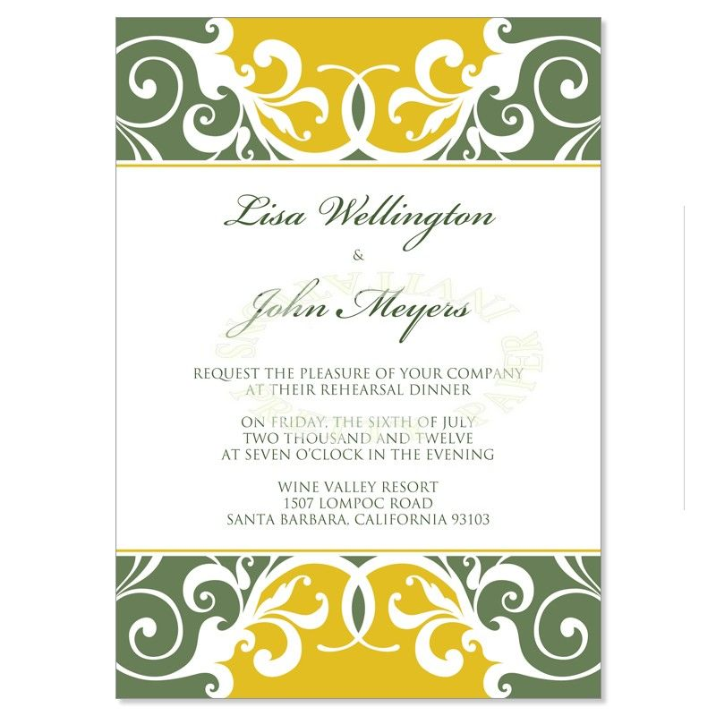 Wedding Rehearsal Dinner Invitation Wedding Ideas Pinterest