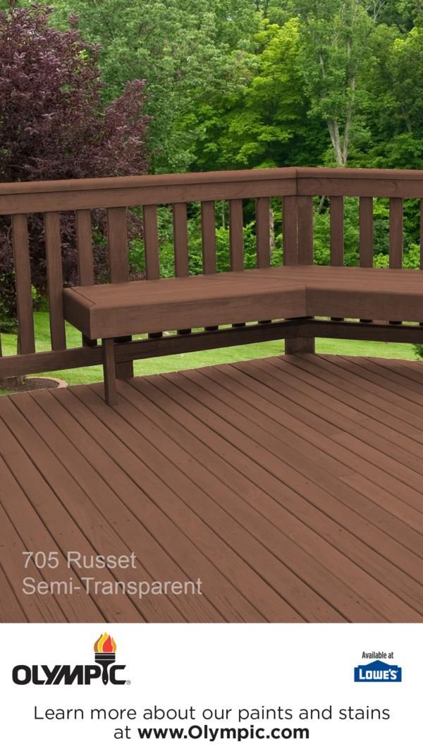 705 Russet In 2018 Semi Transparent Semi Solid Stain Colors