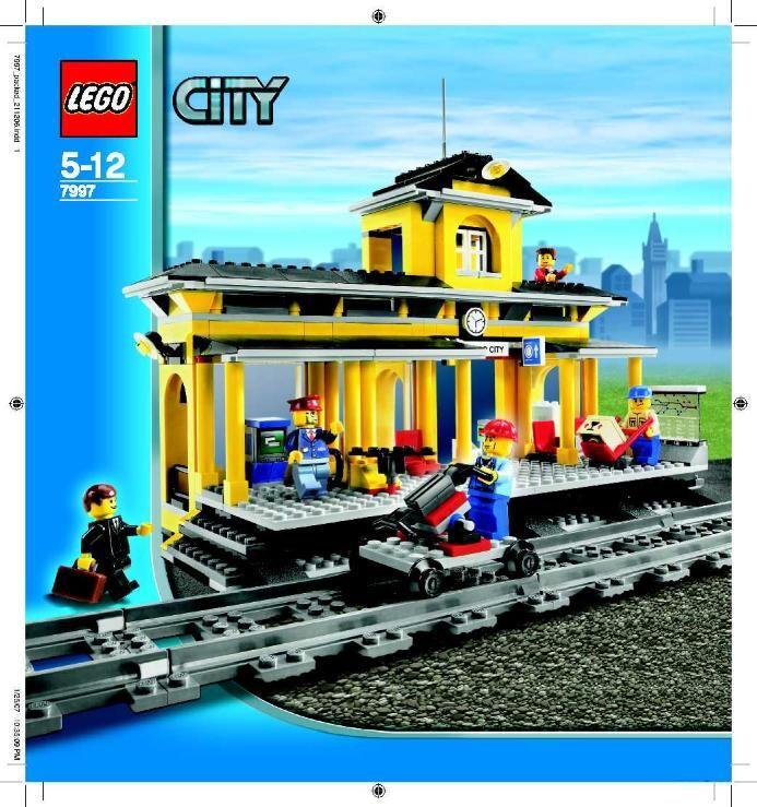 lego city notice lego city la gare mode d emploi lego city la gare disponible lego fun. Black Bedroom Furniture Sets. Home Design Ideas